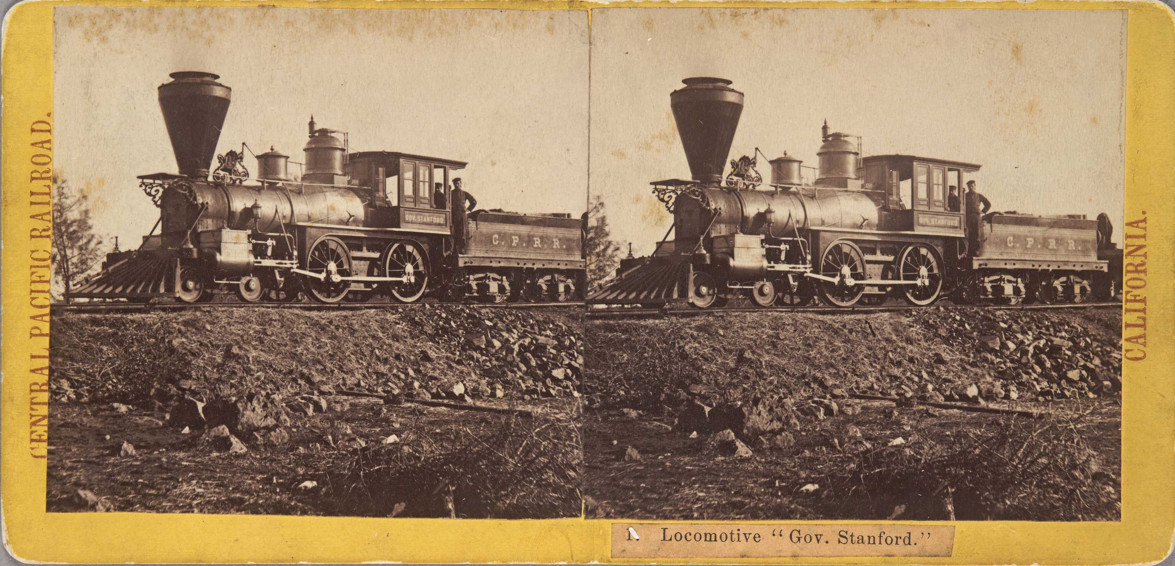 Alfred A. Hart, 'Locomotive 'Gov. Stanford,'' ca. 1865. Huntington Library, Art Collections, and Botanical Gardens.
