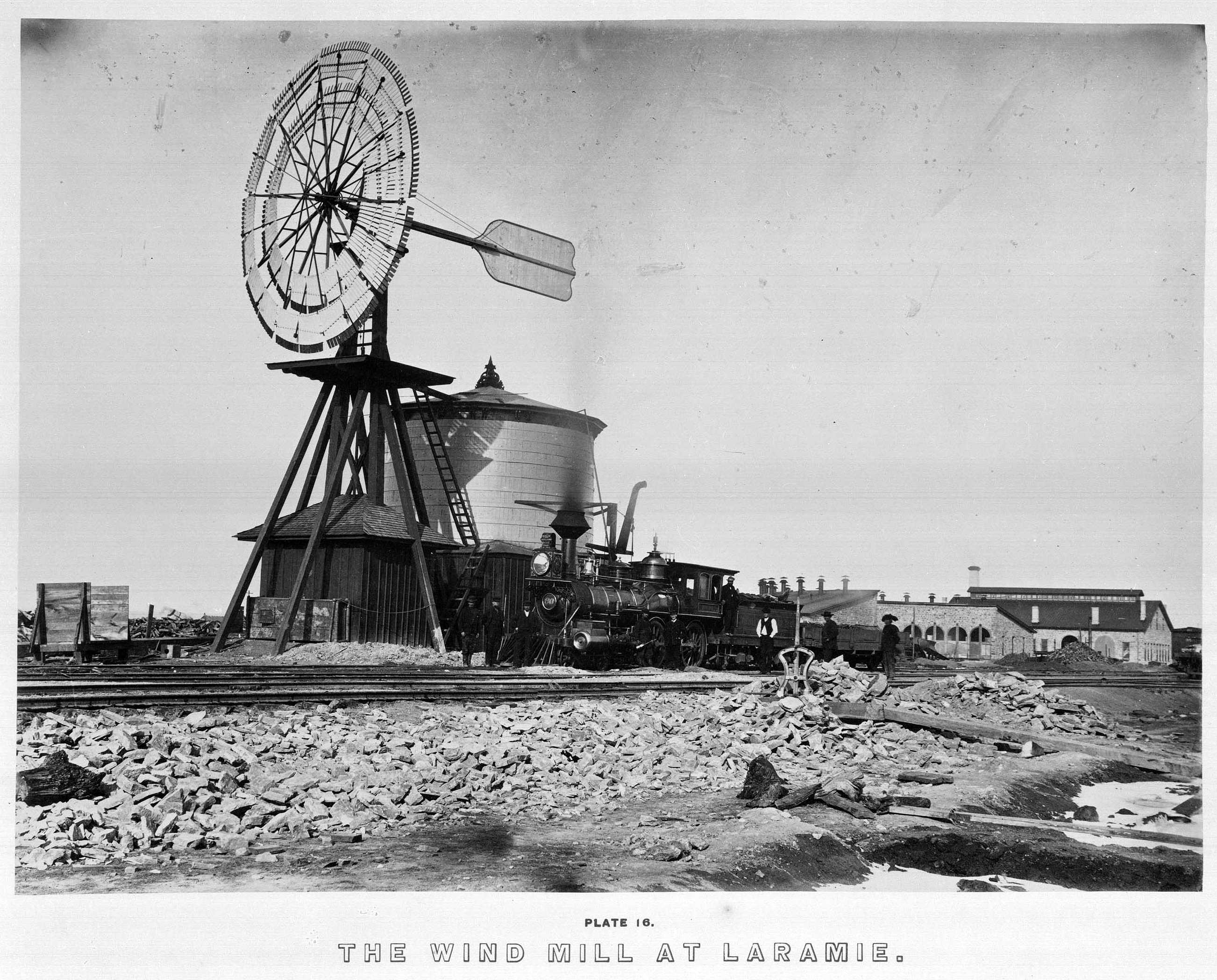Andrew J. Russell, 'Wind Mill at Laramie,' 1868, from The Great West Illustrated. Huntington Library, Art Collections, and Botanical Gardens.