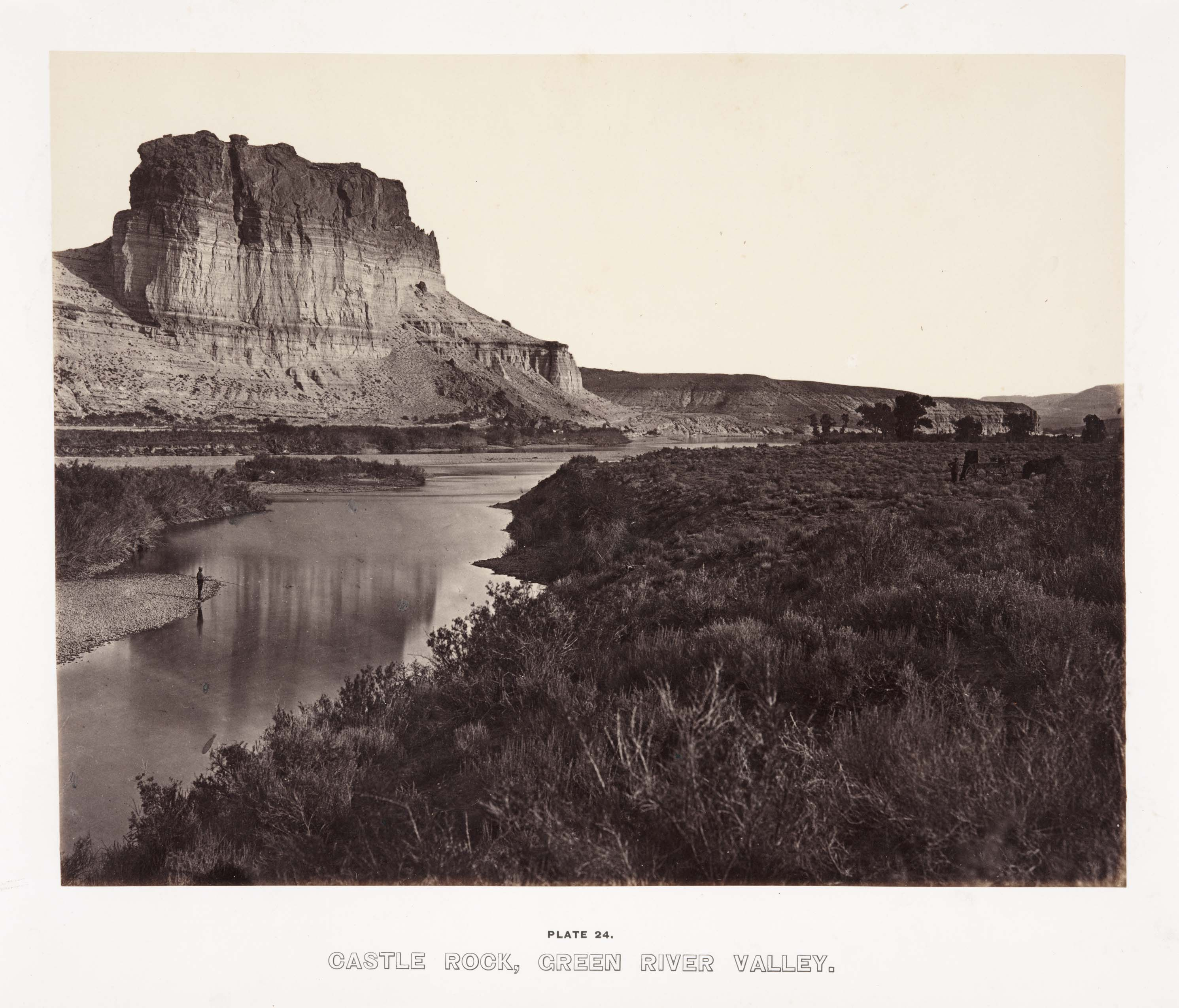 Andrew J.  Russell, 'Castle Rock, Green River Valley,' from The Great West Illustrated, 1869. Huntington Library, Art Collections, and Botanical Gardens.
