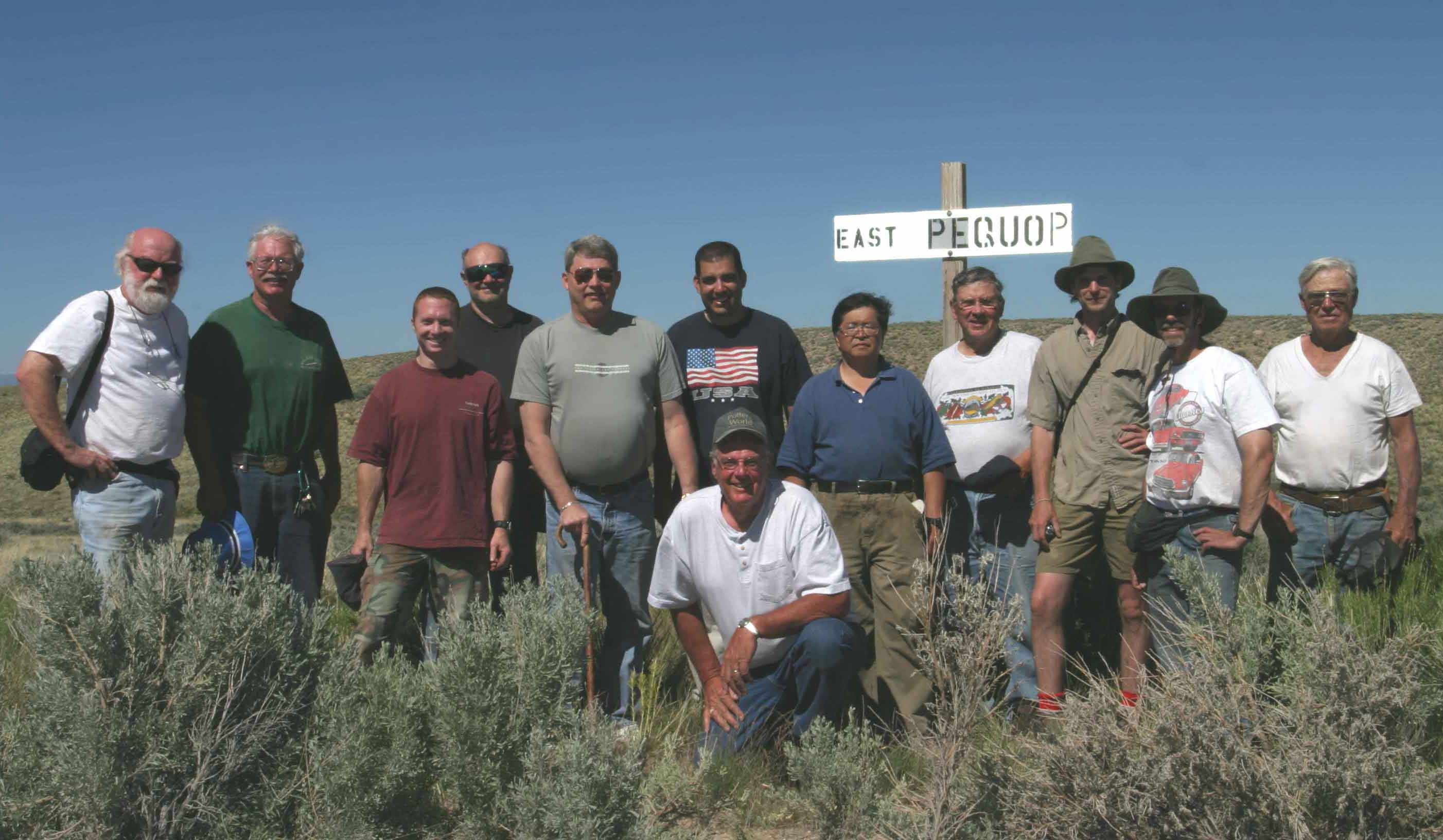 Twelve guys in the Nevada desert, June, 2006.
