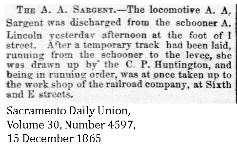 1865-12-15 CP 7 AA Sargent & CP 3 CP Huntington - Sacramento Daily Union, Volume 30, Number 4597, 15 December 1865.