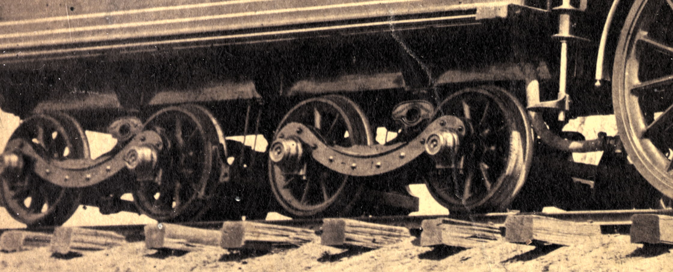 Antelope's tender trucks, detail