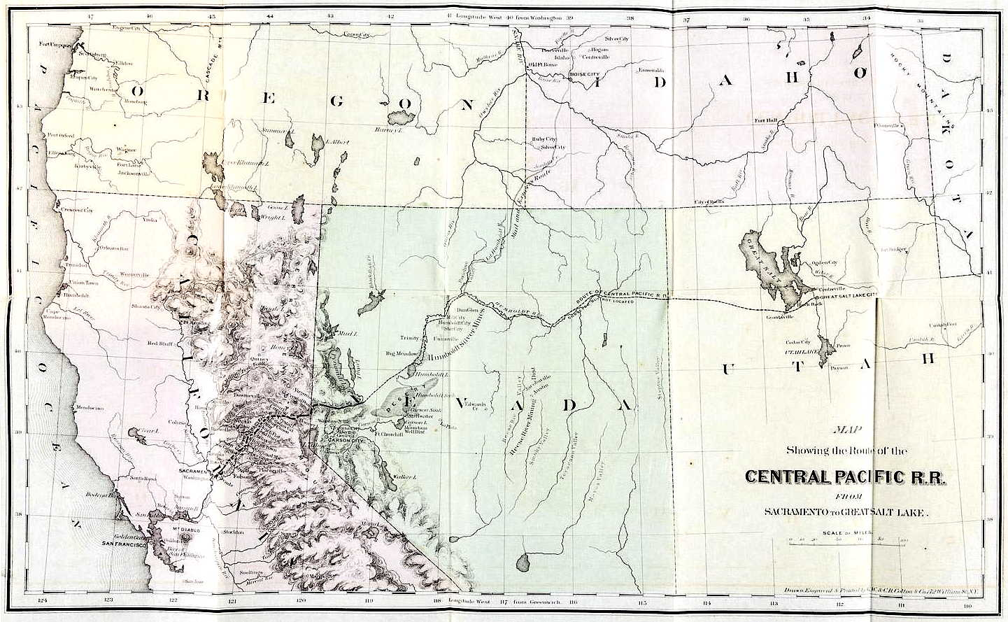 The Central Pacific R. R. of California. Character of the Work, Its Progress, Resources, Earnings, and Future Prospects. New York, October, 1866.