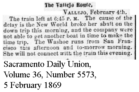 New World Broke Shaft - Sacramento Daily Union, Volume 36, Number 5573, 5 February 1869.
