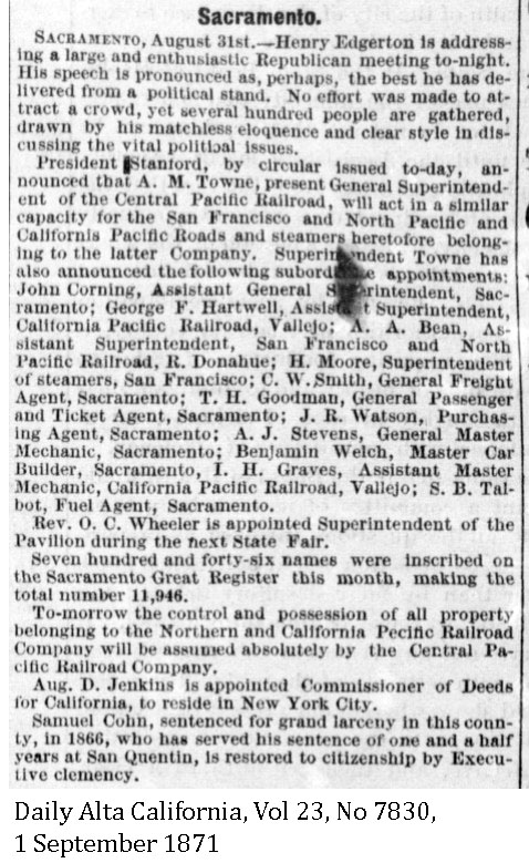 CP and Cal P Combined - Daily Alta California, Volume 23, Number 7830, 1 September 1871.