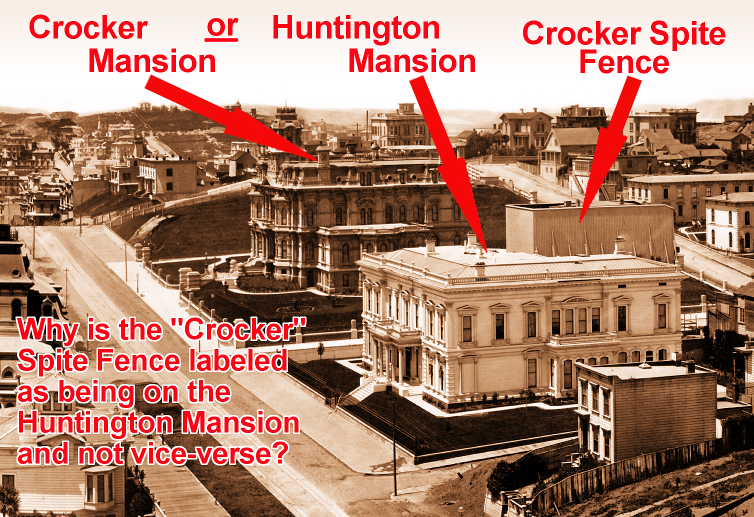 Crocker Mansion or Huntington Mansion? - Spite Fence