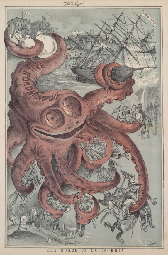 Octopus, The Wasp, August 19, 1882. Courtesy Wikipedia.