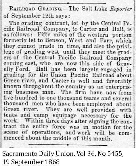 1868 Mormon Grading contracts on CP - Sacramento Daily Union, Volume 36, Number 5455, 19 September 1868