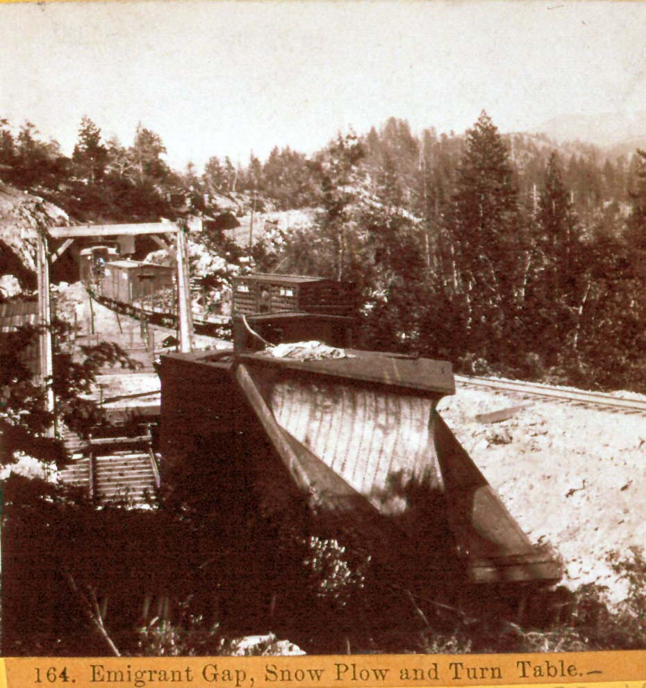 Hart 164.  Emigrant Gap, Snow Plow and turn Table – SP Collection