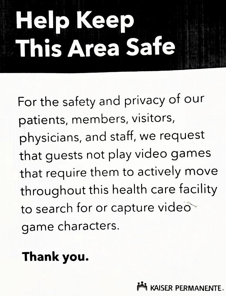 Live video game warning