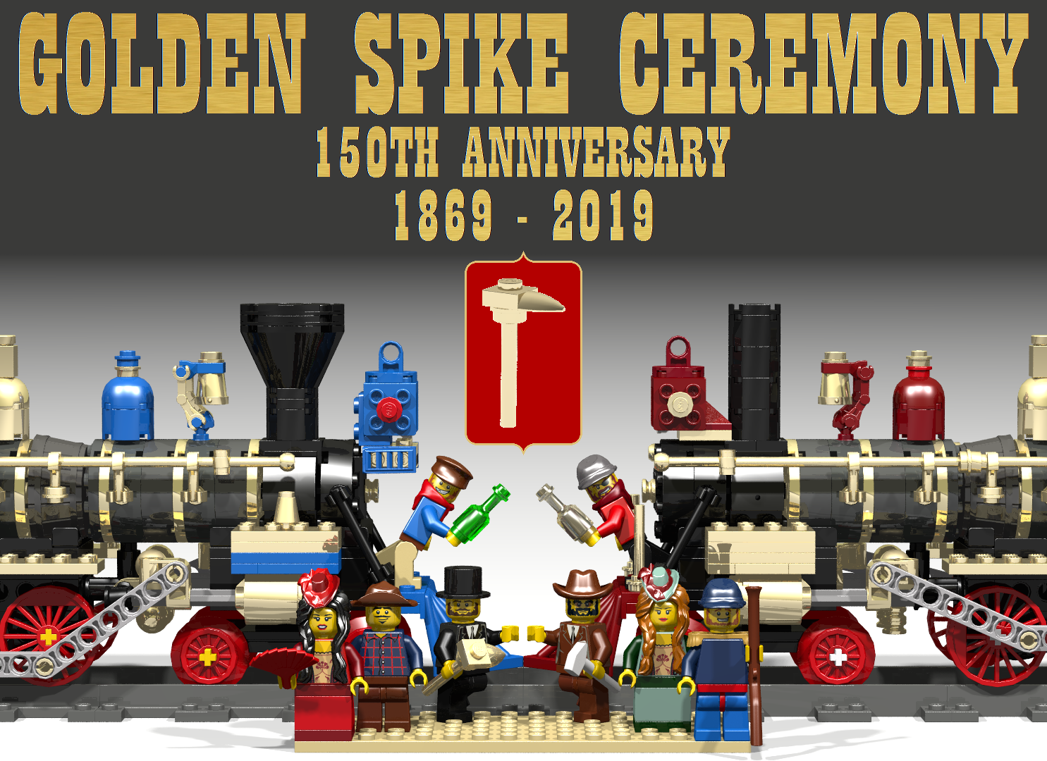 Lego Golden Spike Ceremony