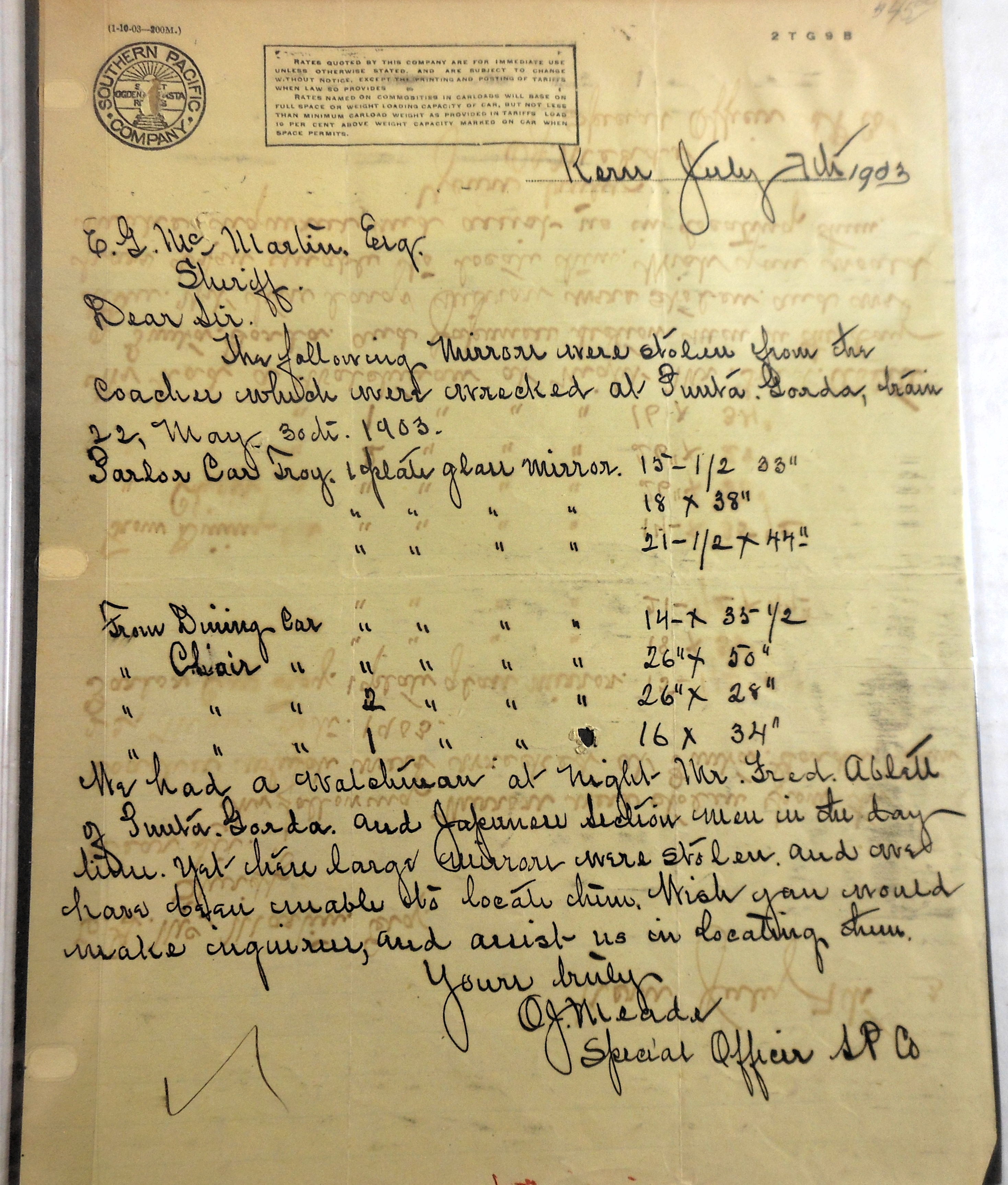 O.J. Meade SP document