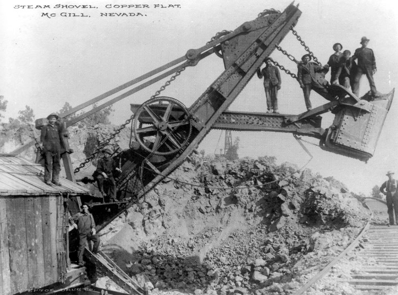 Steam Shovel, Copper Flat, McGill, Nevada