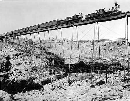 Union Pacific #1277 at Dale Creek Bridge, 1891.