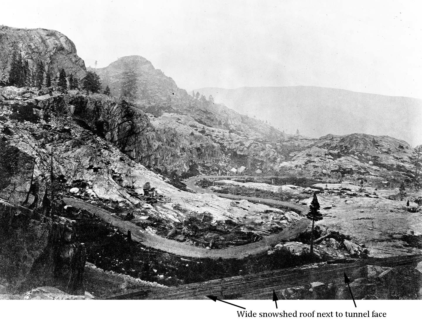 O'Sullivan 53 Donner Lake Pass in the Sierra Nevada Mountains of California - 40th Parallel - USGS