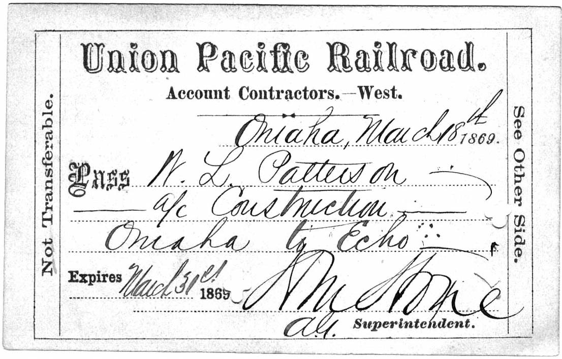 UPRR Pass 1869.