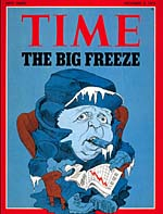 Time Magazine Cover predicting Global Cooling, December 3, 1973.