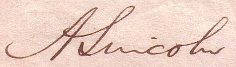 Abraham Lincoln Signature. Courtesy of The History Attic.