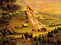 American Progress allegorical painting by John Gast, 1872.