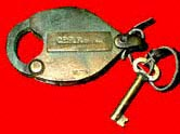"CPRR of Cal. Lock and Key, 1880's (Courtesy of ""saxaphonekevin"" on eBay)"
